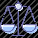 compare, justice, law, scales icon