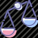 compare, disbalance, injustice, scales icon