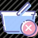 basket, delete, shop, shopping