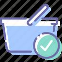basket, check, shop, shopping icon