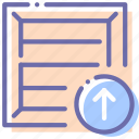 box, package, product, upload icon