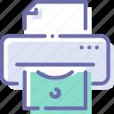 finance, money, printer, seigniorage icon