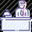 concierge, hotel, manager, service icon