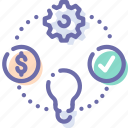 business, idea, money, process icon