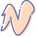 chicken, fried, roasted, wing icon