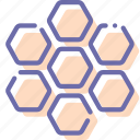 bees, food, honey, honeycomb icon