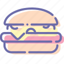 burger, cheese, fast, food icon