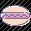 dog, fast, food, hot icon