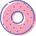 bagel, donut, food icon