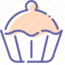 bakery, brownie, cake, cupcake icon
