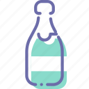 alcohol, bottle, champagne, wine icon