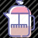 french, press, tea, teapot
