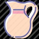 cream, jug, milk, pitcher