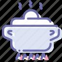 cook, dinner, kitchen, pan icon