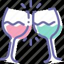 glass, goblet, pledge, wine icon