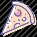 food, piece, pizza