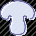 champignon, food, mushroom, organic icon