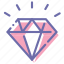 diamond, gift, jewelry, present icon