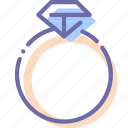 diamond, gift, present, ring icon