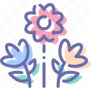 bouquet, flowers, nature, present icon