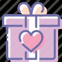 gift, heart, love, present