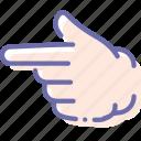 finger, forefinger, hand, left