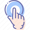 click, finger, pointing, press icon