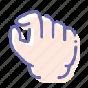 zoom, gesture, hand, pinch icon