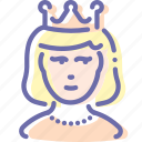 avatar, lady, princess, queen icon