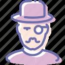 avatar, hipster, millionaire, mustache