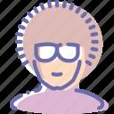dancer, disco, glasses, user icon