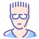 avatar, glasses, man, sportsman