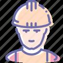 avatar, builder, man, working
