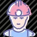 avatar, man, miner, worker