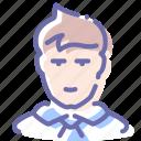 avatar, clerk, office, person icon