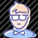 clerk, hipster, showman, user icon