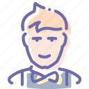 avatar, clerk, office, waiter icon
