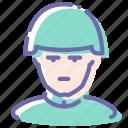 avatar, helmet, retro, soldier