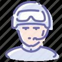 avatar, glasses, helmet, soldier