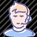 avatar, call, man, support