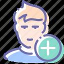 add, avatar, friend, like