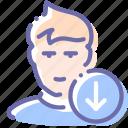 avatar, down, next, user