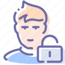 avatar, block, lock, user