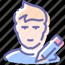edit, person, profile, user