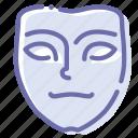 face, mask, pensive, pokerface