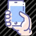 hand, mobile, mockup, smartphone icon