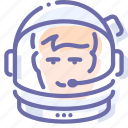 astronaut, avatar, helmet, suit icon