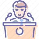 conference, education, presentation, speech icon