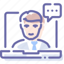 chat, conference, support, webinar icon