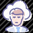 cloud, employee, man, outsource icon